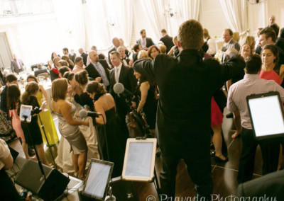 Fun Dance Floor at Wedding Goody Blue Shoes