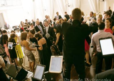 Fun Dance Floor at Wedding Goody Blue Shoes